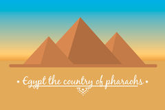 Landscape of the Egyptian pyramids Royalty Free Stock Images