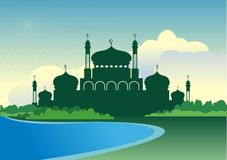 2015 landscape Eid Mubarak Background Stock Photos