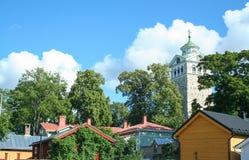 Landscape of Ekenas. Village in Finland stock photo