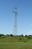 Landscape and electric power line Royalty Free Stock Images