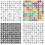 100 landscape element icons set vector variant. 100 landscape element icons set vector in 4 variant for any web design isolated on white Stock Images