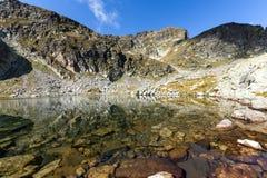 Landscape of Elenski lakes and Malyovitsa peak, Rila Mountain Stock Image