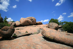 Landscape at Elephant rocks State park, royalty free stock photography