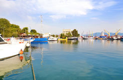Landscape of Eleusis or Elefsina port Greece stock photography