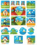 Landscape emblems Stock Photography