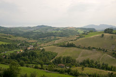 Landscape in Emilia-Romagna (Italy) at summer Royalty Free Stock Image