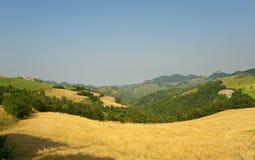 Landscape in Emilia-Romagna (Italy) at summer Stock Image