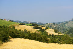 Landscape in Emilia-Romagna (Italy) at summer Stock Image