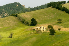 Landscape in Emilia-Romagna (Italy) at summer Royalty Free Stock Photos