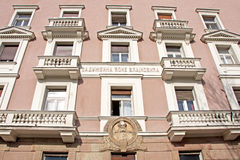 Landscape of the endowment palace in Belgrade Royalty Free Stock Photo