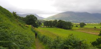 Landscape in the English Lake District Stock Image