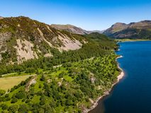 Ennerdale Water in Cumbia, UK stock images