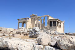 Landscape of Erechtheum ancient temple Royalty Free Stock Photo