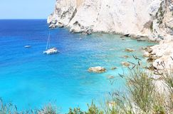 Erimitis beach at Paxos Ionian islands Greece Stock Photography