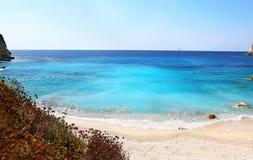 Erimitis beach Paxos island Greece stock photos