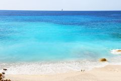 Erimitis beach Paxos island Greece Royalty Free Stock Photos