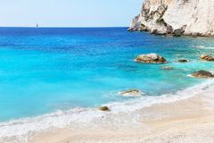 Landscape of Erimitis beach Paxos Ionian islands Greece Royalty Free Stock Photography