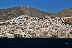 Landscape of Ermoupoli town, Syros, Cyclades Islands Stock Photography