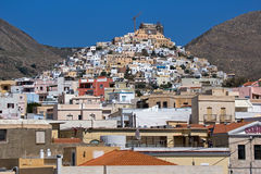 Landscape of Ermoupoli town, Syros, Cyclades Islands Royalty Free Stock Photo