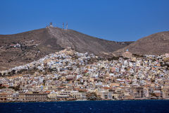Landscape of Ermoupoli town, Syros, Cyclades Islands Royalty Free Stock Photography