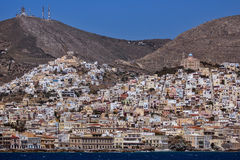 Landscape of Ermoupoli town, Syros, Cyclades Islands Royalty Free Stock Images