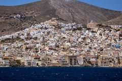 Landscape of Ermoupoli town, Syros, Cyclades Islands Royalty Free Stock Photos