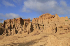 Landscape of eroded sandstone Royalty Free Stock Photo