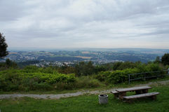 Landscape in the Erzgebirge in Saxony Royalty Free Stock Photo