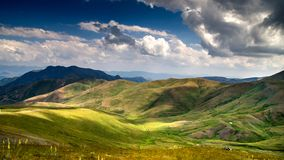Road to Erzurum. Landscape from Erzurum plateau  / Mountains Royalty Free Stock Photo