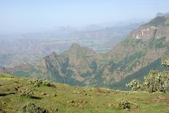Landscape in Ethiopia Royalty Free Stock Photos