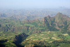 Landscape in Ethiopia Royalty Free Stock Photography
