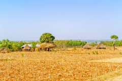 Landscape in Ethiopia near Bahir Dar Royalty Free Stock Images
