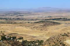 Landscape in Ethiopia. Landscape in the Northern Ethiopian Mountains royalty free stock image