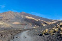 Landscape of Etna volcano, Cicily Royalty Free Stock Photo