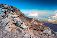 Landscape of Etna volcano, Sicily, Italy. Stock Photos