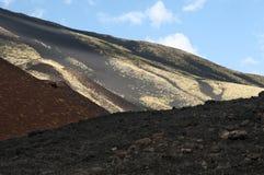 Landscape on Etna volcano, Sicily. Stock Images