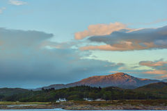 Landscape, Evening light over, Traigh house and Carn a Ghobhair Royalty Free Stock Photo