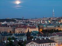 Landscape evening Prague Stock Photos