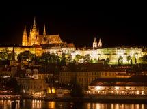 Landscape evening Prague Stock Photo