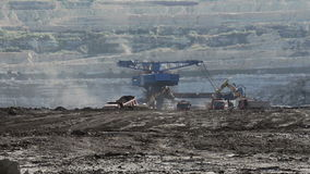 Landscape with Excavator stock video footage