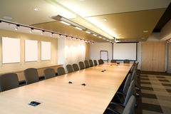 Landscape of executive boardroom in office. Stock Image