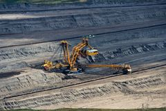 Landscape with extractive industry Royalty Free Stock Photos