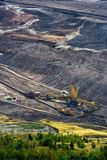 Landscape with extractive industry Royalty Free Stock Images