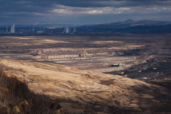 Landscape with extractive industry Stock Image