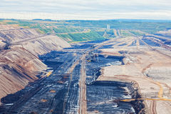 Landscape with extractive industry Stock Photo