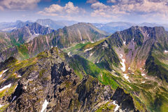 Landscape with Fagaras mountains in Romania Stock Photos