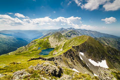 Landscape with Fagaras mountains in Romania Royalty Free Stock Image