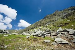 Landscape in Fagaras mountains, Romania Royalty Free Stock Image