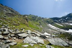 Landscape in Fagaras mountains, Romania Royalty Free Stock Photo