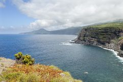 Landscape in Faial, Azores Stock Photo
